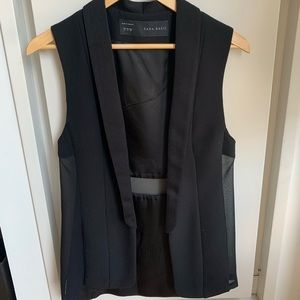 Zara Sheer Panel Vest SZ S